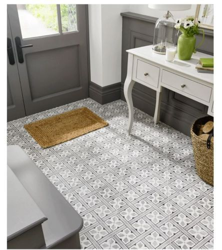 LAURA-ASHLEY-VICTORIAN-STYLE-MR-JONES-BLACK-WHITE-CERAMIC-FLOOR-TILES-Per-m2
