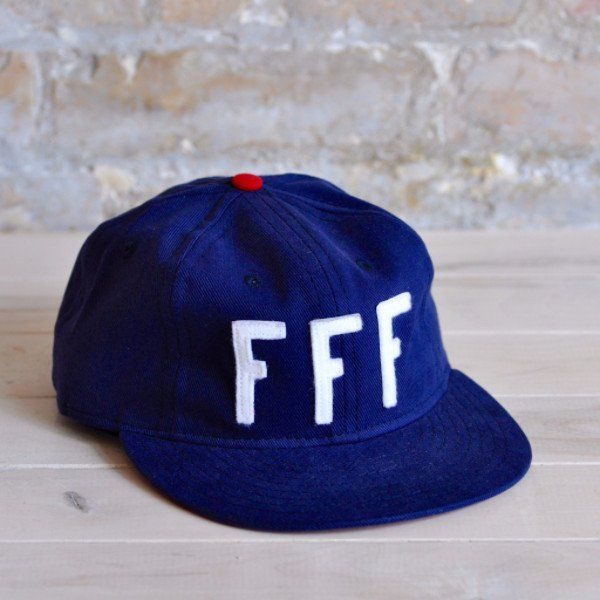 Allez les Bleus! Support the Euro 2016 hosts with this limited edition cap from Talisman and Ebbets Field Flannels. - Navy brushed bull denim 6-panel cap with white felt appliquè lettering - Red brush
