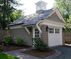 Garage shop garage and pool houses on pinterest for Detached garage pool house