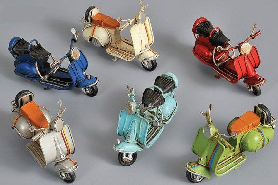 VESPA motorbike/scooter tin toy by BaptismSupplies on Etsy