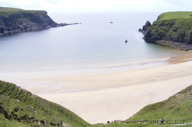 """Silver Strand, Ireland. Candidate for """"the most beautiful beach in the world""""."""