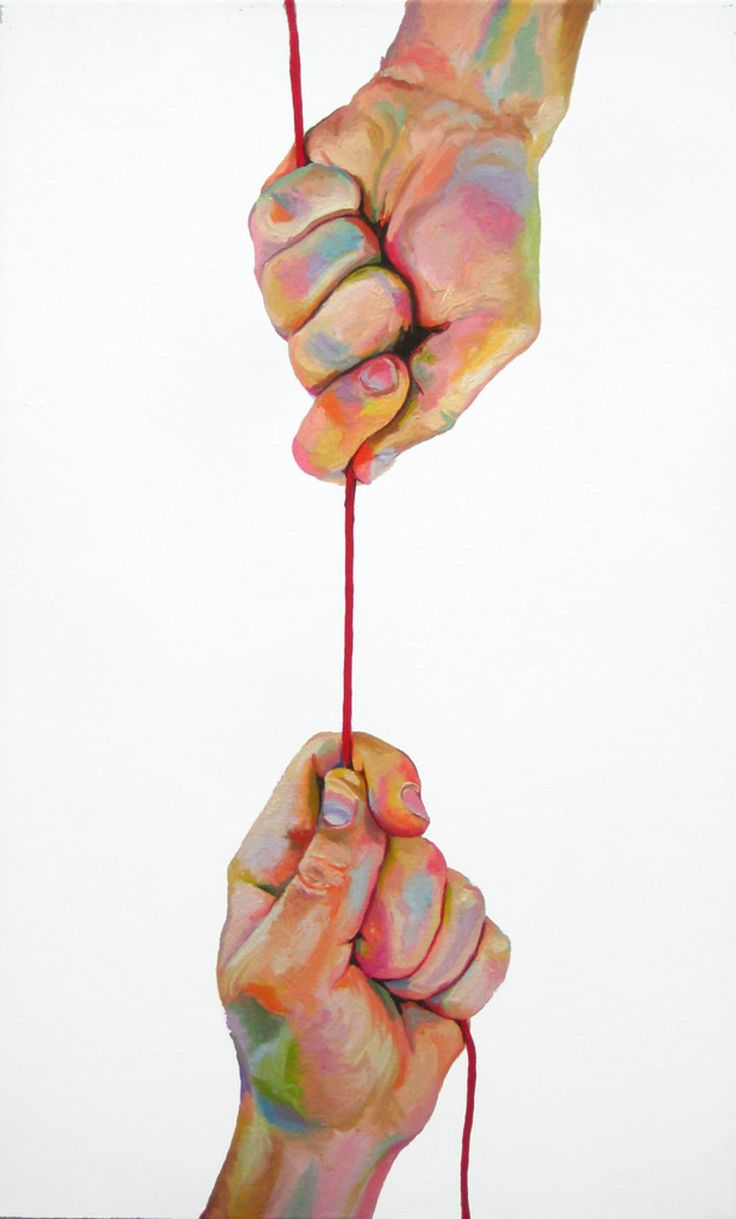 Oil painting - hands with wonderful color