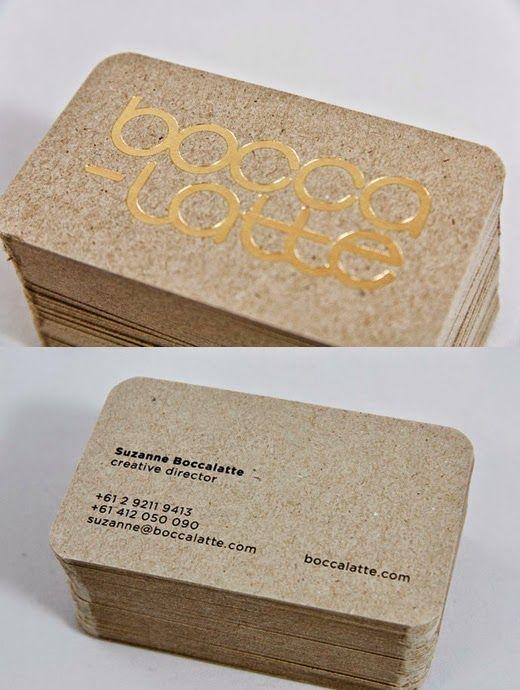 BEPUNT: Tarjetas de visita en papel craft