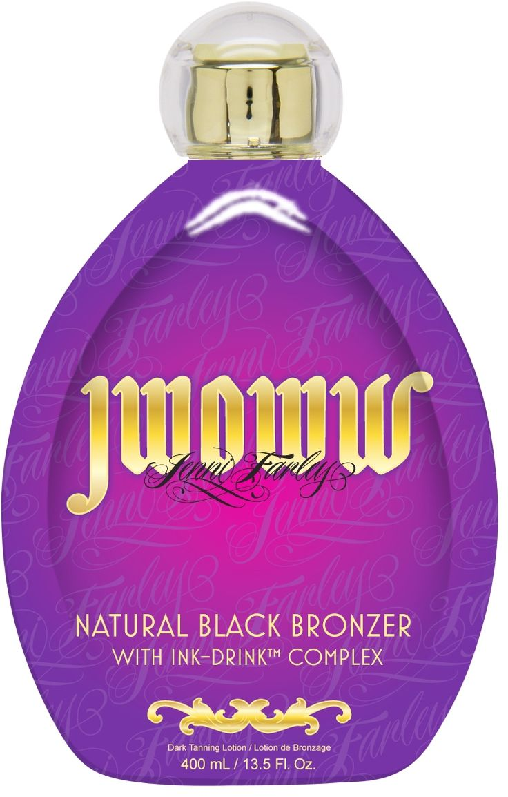 JWOWW Natural Black Bronzer w/Ink-Drink™ Complex 13.5 Fl. Oz. Coastal Coconut Fragrance  If you're looking for natural, fresh-off-the-beach color, look no further. This undeniably perfect powerhouse of natural bronzers delivers instant, rich bronzed goodness while Kendi (KEN-DEE) Oil enriches and nourishes for a gorgeous glow. Vitamin-rich Ink-Drink™ Complex deeply moisturizes tattoos for vivacious and vibrant color.