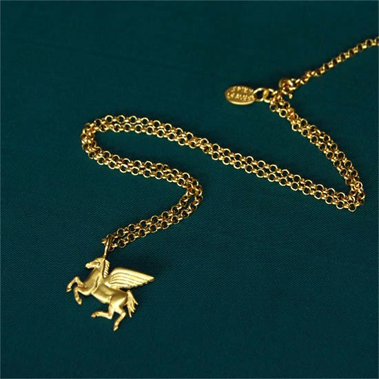 Pegasus. Gold plated silver pendant. From 27/11/2014 in www.my-precious.com
