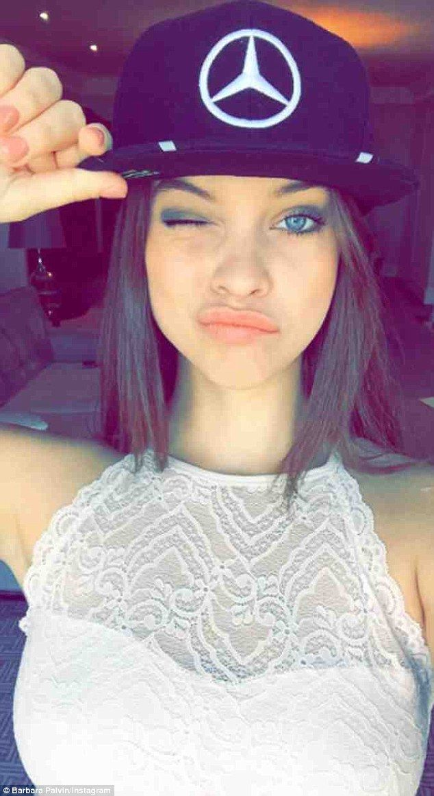'TeamLH': Model Barbara Palvin, 22, posted this selfie on her Instagram, winking as she sp...