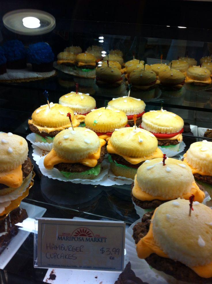 Nifty hamburger cupcakes – found at Mariposa Market in Orillia