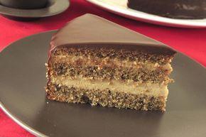 MEXICAIN CAFE & NOIX - gâteau léger noix/rhum, crème pâtissière collée café/chantilly, glaçage brillant choco noir (Réalisation du glaçage : SAUCE CHOCO : 150 gr de chocolat noir, 20 gr de beurre, 15 cl de lait, 1,5 c à s de crème, 30 g de sucre - FINITION : 120 gr de chocolat noir, 12 cl de crème, 20 g de beurre et 120 g de sauce choco)