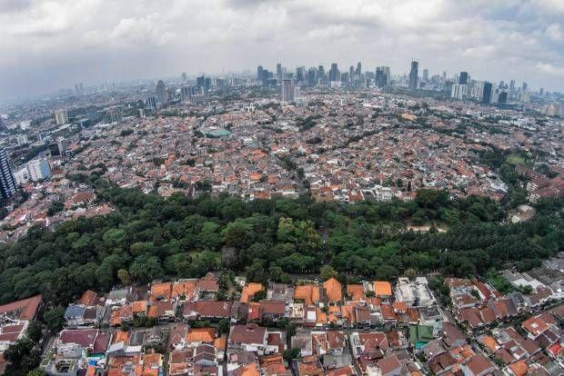 Melihat Ruang Terbuka Hijau Jakarta dari Udara.