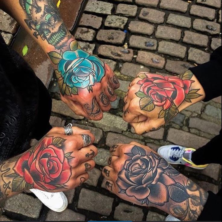 I've got a rose on my hand as well