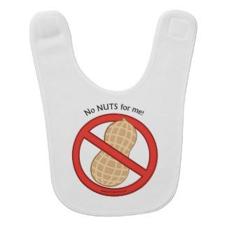 """""""No Nuts for Me"""" Awareness Baby bib"""