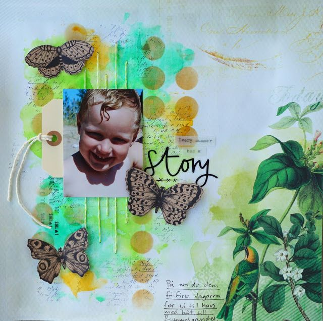Sara Kronqvist - Saras pysselblogg: Every summer has a story   Scrapbook page with tropical vibes