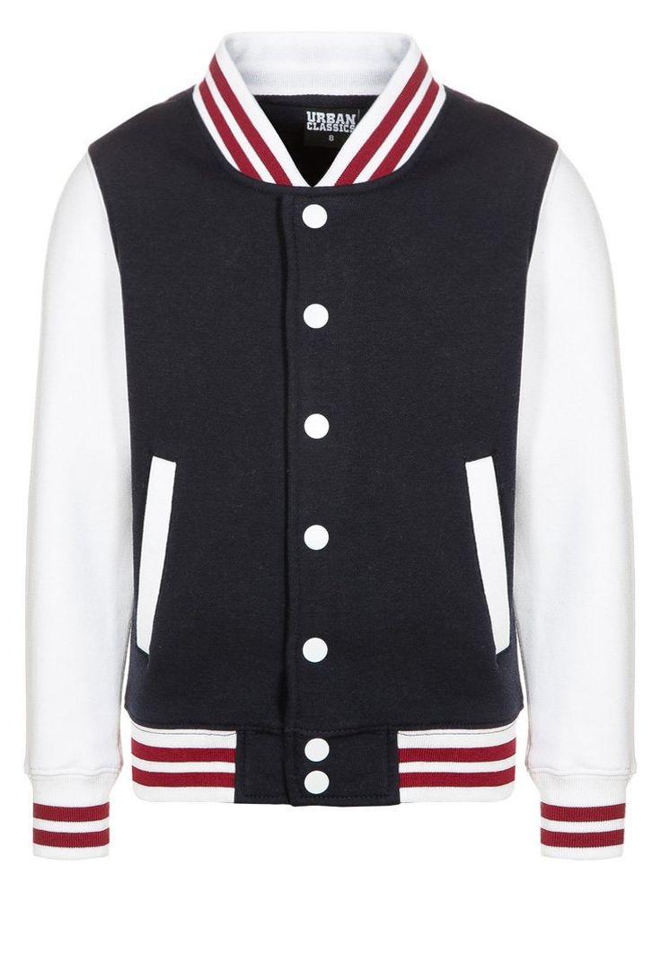 Urban Classics - Felpa con la zip - navy/white/ruby