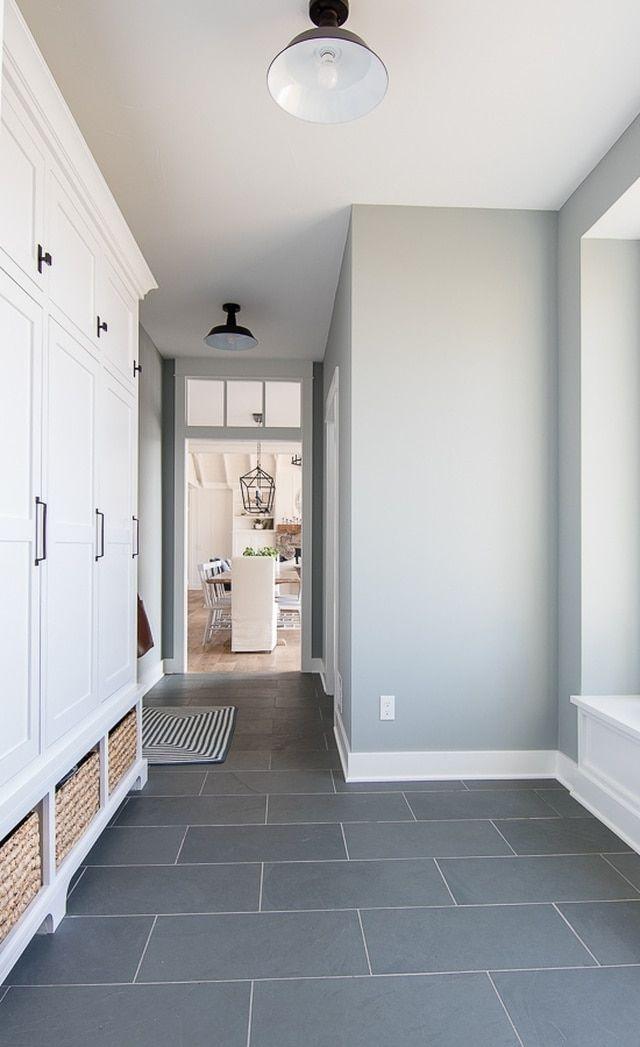 Slate Tile Portland Slate Tile Slate Tile Flooring Slate Floor Tile In 2020 Gray Painted Walls Home Mudroom Paint Color