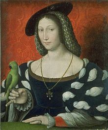 Marguerite d'Angoulême(1492-1549) Queen consort of Navarre. wife of Henry II of Navarre. portrait done in 1527