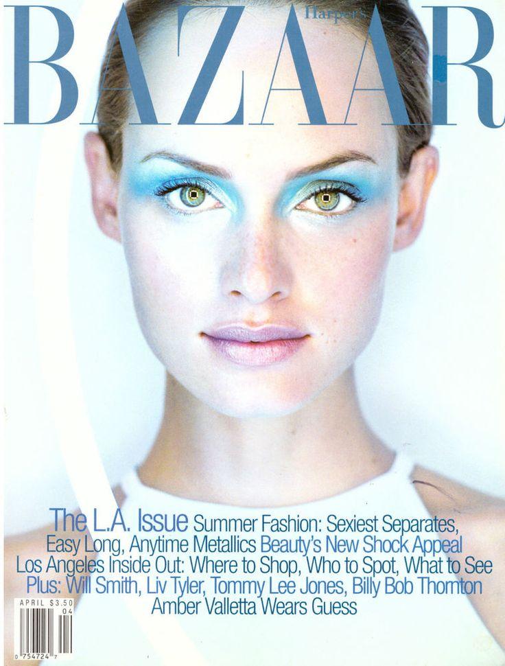 1997 Harper's Bazaar Amber Valletta Milla Jovovich David Bowie Layout Kate Moss | eBay