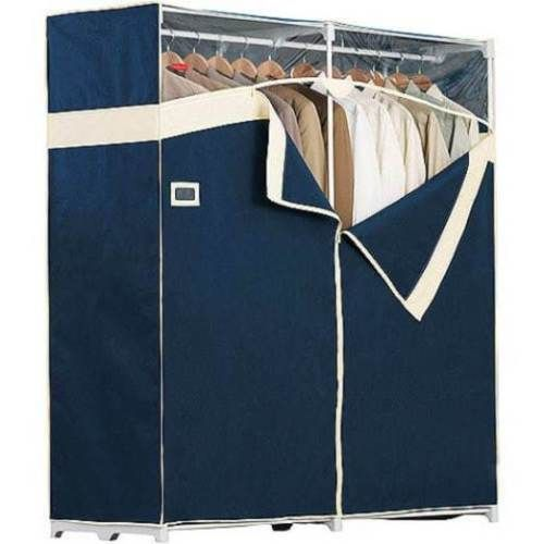 Heavy-Duty-60-034-Portable-Closet-Garment-Storage-Wardrobe-Organizer-Clothes-Rack