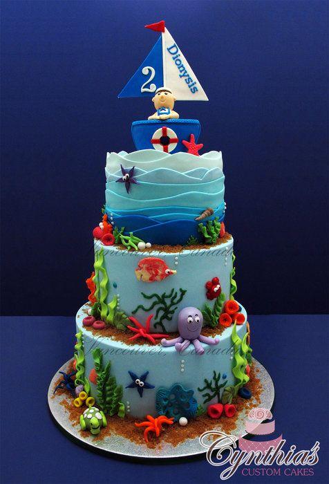 Cake Decoration Sea Theme : Ocean Themed Cake Beach & Ocean Theme Cakes & Cookies ...