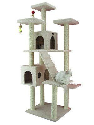 77 Classic Cat Tree in Ivory - Premium Cat Tree for Large Cats and Kittens, Cat Furniture Bundles with Scratching Post and Cat Condo, Cheap Cat Trees and Condos with 6 Months Warranty by Armarkat >>> More details can be found by clicking on the image. #CatsBedsFurniture