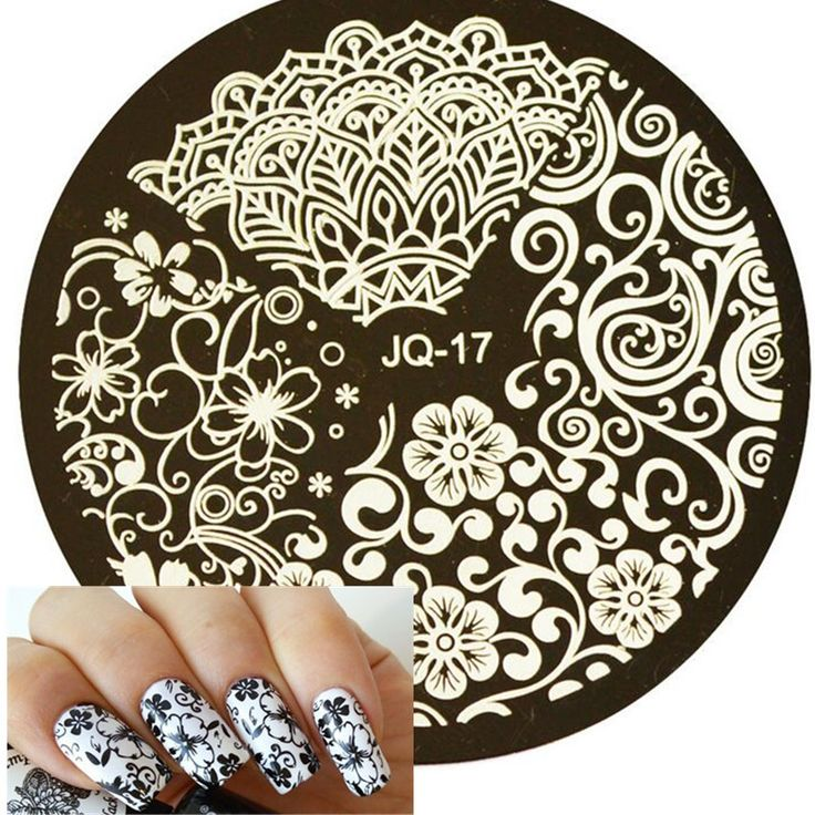 1pc Beauty Flower Styles Image Polish Printing Nail Stamping Plates Nail Art Templates Stencils Manicure Styling Tools #JQN-17