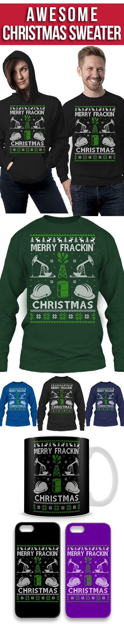Oil Field Worker Ugly Christmas Sweater! Click The Image To Buy It Now or Tag Someone You Want To Buy This For. #oilfield
