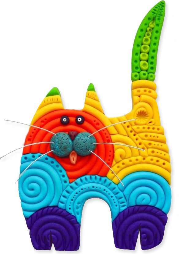 Polymeow | Polymer Clay Daily cute idea, no tut
