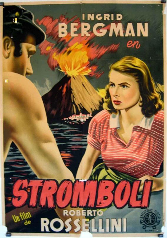 """""""STROMBOLI, TERRA DI DIO"""" with Ingrid Bergman. Director: R.Rossellini. Italia,1950."""