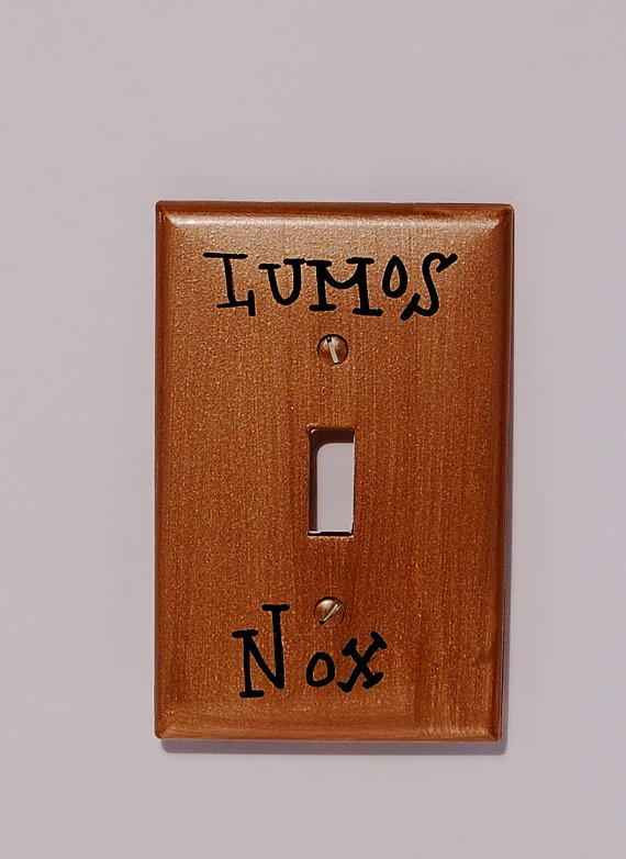 Harry Potter Lumos/Nox Light Switch Plate. YES.: Nox Lights, I M, Lights Switch Plates, House Ideas Dreams, Lights Switch Covers, Awesome, Ideas Dreams House, Light Switch Plates, Harry Potter Stuff