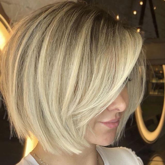 55 Neue Bob Frisuren Mittellang Tren In 2020 Chic Haircut Hair Styles Blonde Haircuts