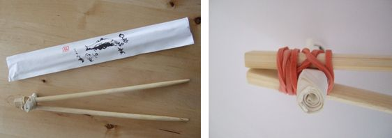 Training chopsticks for kids -- OK, so some adults may benefit from this too. :P