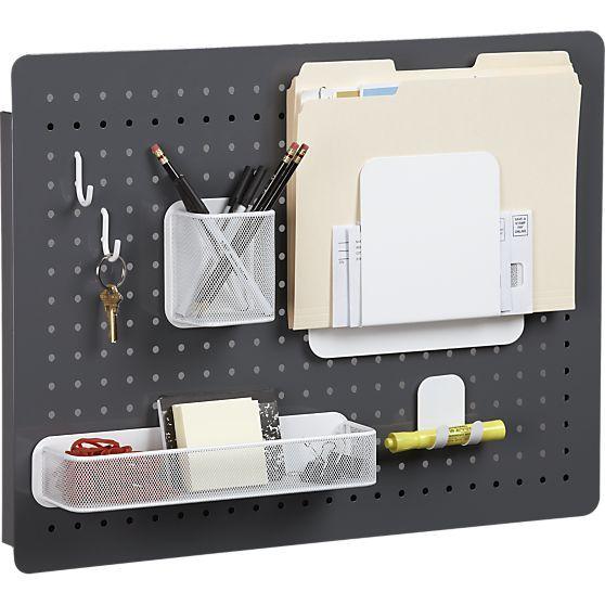 Peg board organizer office ideas pinterest - Accesorios para escritorio ...