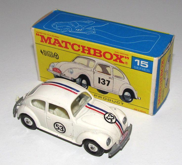 Matchbox   1-75 Series, Regular Wheels   Volkswagen 1500 Saloon Herbie the Love Bug   Model Racing Cars   hobbyDB
