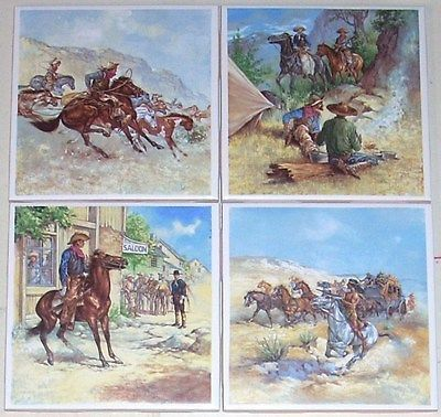 http://www.houzz.com/photos/39680653/lid=26017261/Remington-Series-Ceramic-Tile-Western-Rider-Kiln-Fired-Biscuit-Set-of-4-425-southwestern-tile-murals