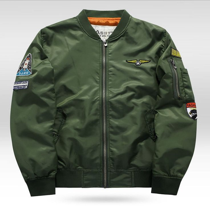 Autumn Air Force One Pilot Jacket Men Chaquetas Hombre 2017 Casual Mens   Jackets And Coats MA01 Bomber Jacket Men Army Green Bl #Affiliate