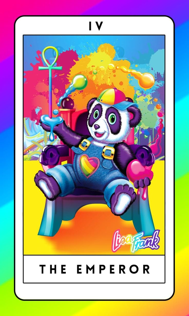 The Emperor/Lisa Frank tarot