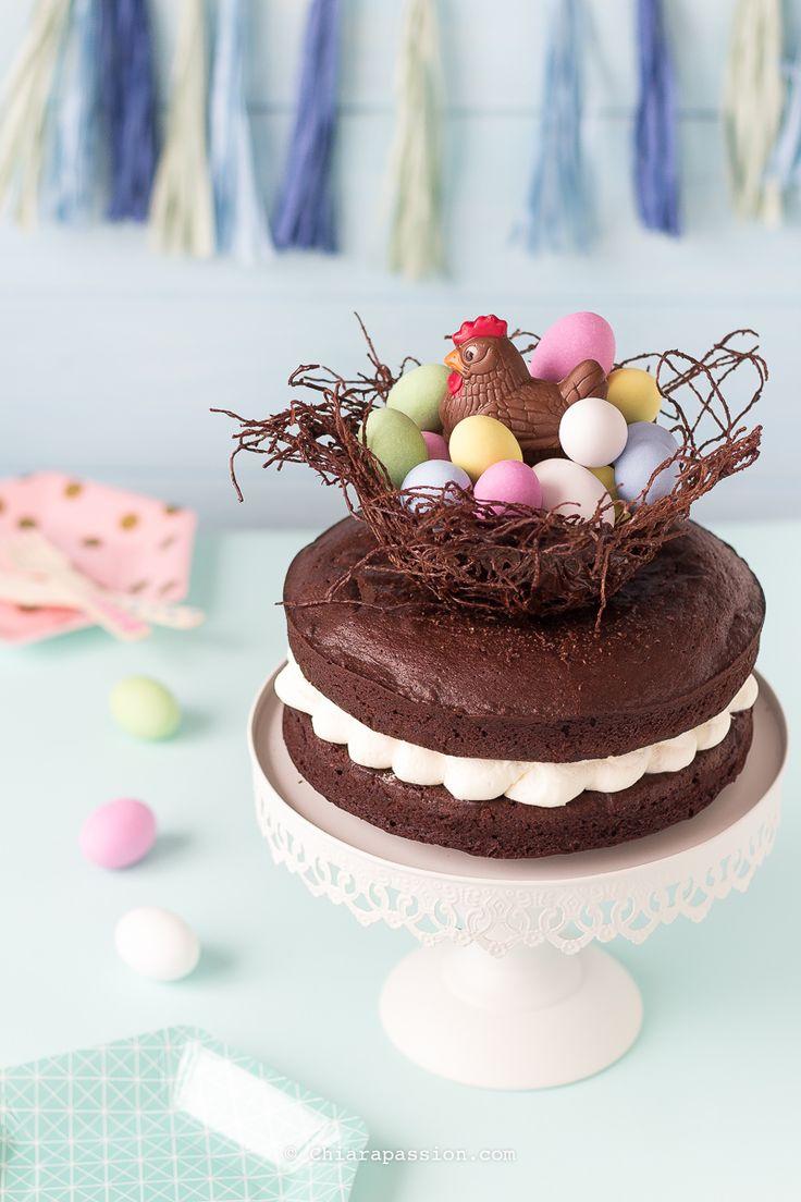 Torta Al Cioccolato Nido Di Pasqua | Chiarapassion