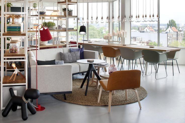 Live Zoku - Wonen Voor Mannen - Zoku Amsterdam, Staal architect, architectuur, design, interieur, social spaces, zithoek