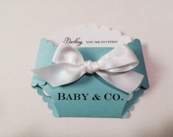 Tiffany, Baby and Co. Baby shower diaper invitation.