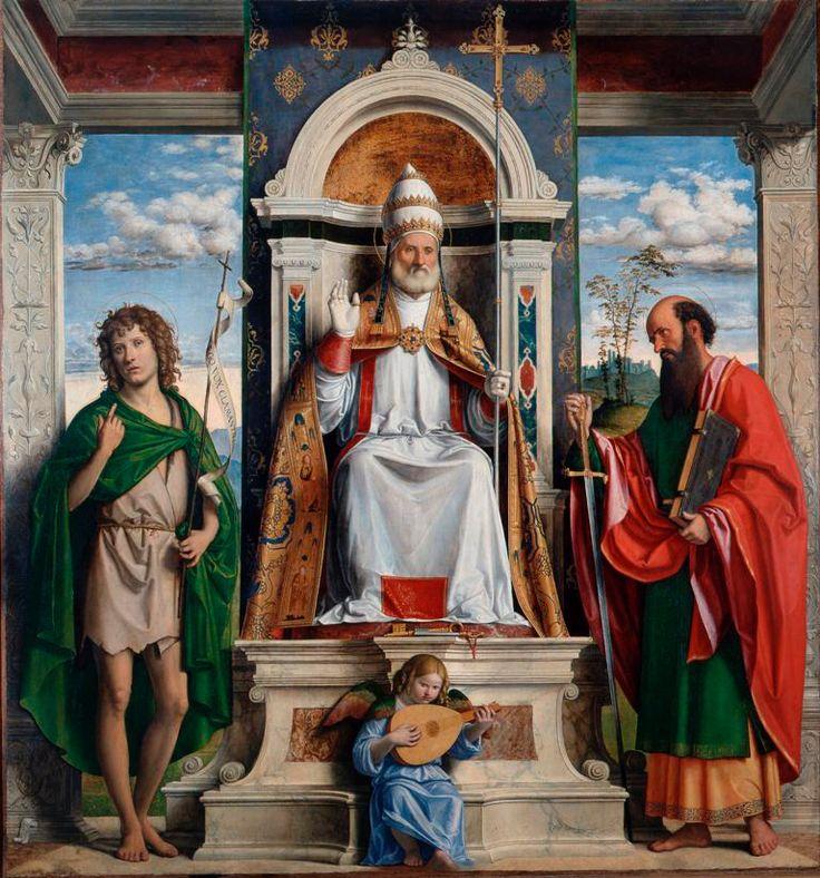 SAN PIETRO IN TRONO CON GIOVANNI BATTISTA E SAN PAOLO Cima da Conegliano, 1515 - 1516