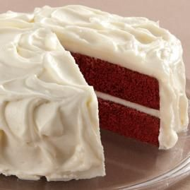 Red Velvet Cake with Cream Cheese Icing from Wilton.com. Have yet to try their recipe but have made a few others. Will bake it for the winter season.