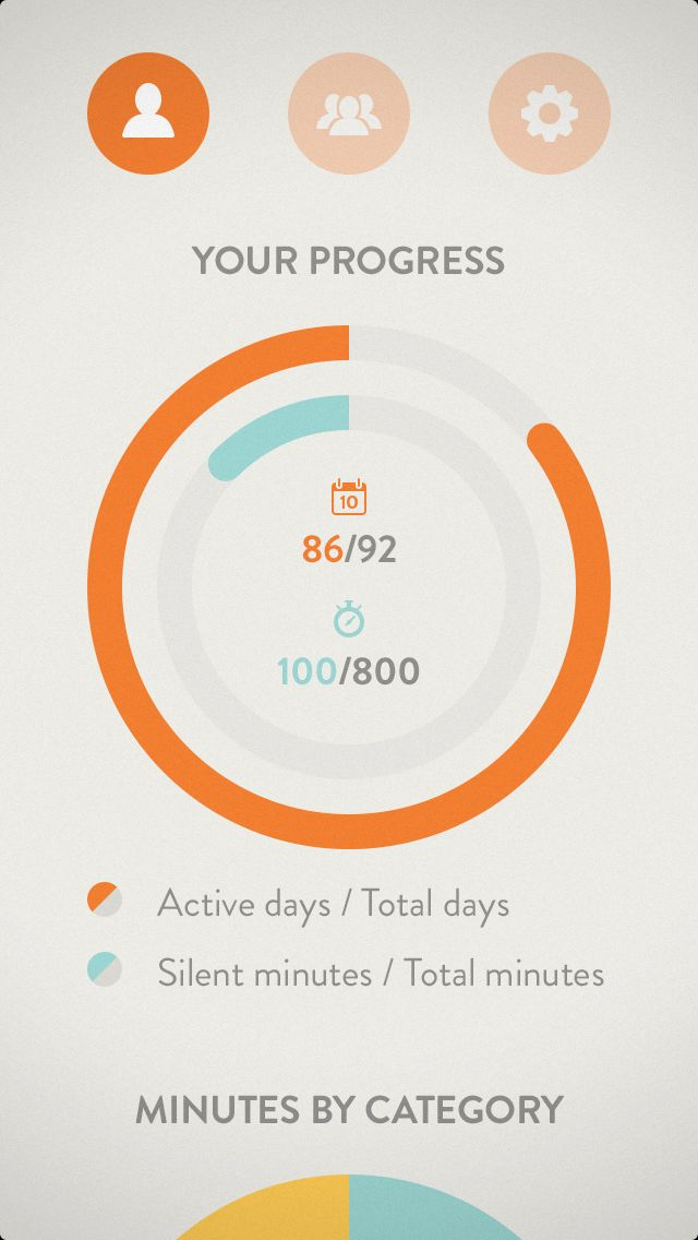 Dribbble - 04_Full.png by Cai Cardenas  Progress screen. Dashboard inspiration