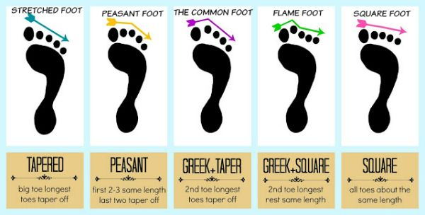 4) STRETCHED FOOT: The toes are long and are bound together tightly with the first toe waning off at its tip. Because of its dainty structure, people with this type of foot are considered idealists, creating a world filled with…