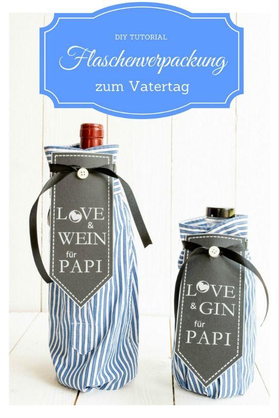 DIY Flaschenverpackung Vatertag