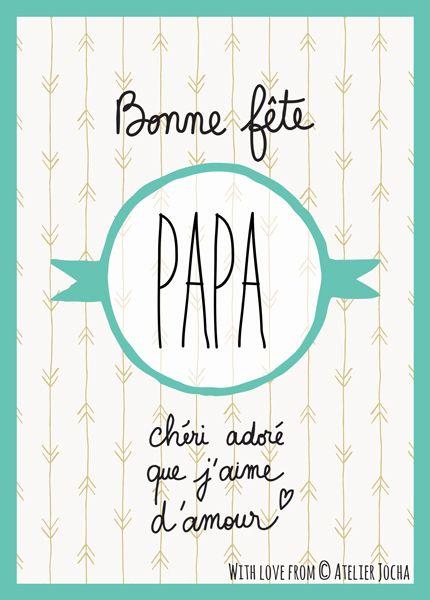Bonne fête PAPA – Green | Atelier Jocha http://atelierjocha.fr/boutique/bonne-fete-papa-green/