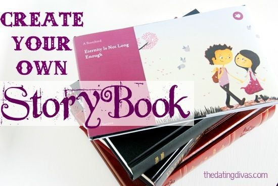 Create your own customized storybook featuring your own love story. Cute idea