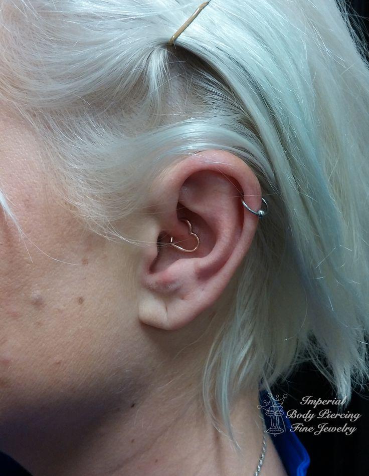 #daith 14k #gold #rosegold #heart #imperial #imperialbodyart #imperialtattoo #meridian #idaho #boise #earpiercing #bodypiercing #piercing