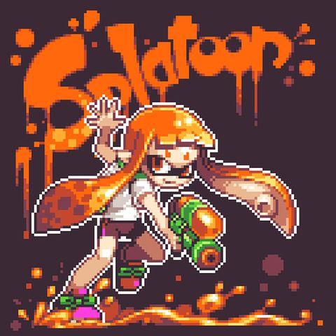 「【ドット絵】Splatoon」/「もやししゃも」のイラスト [pixiv]