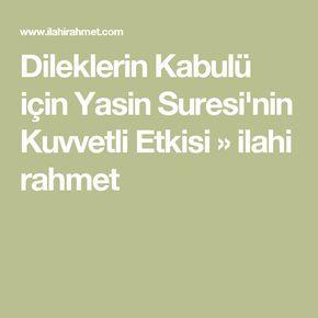 Dileklerin Kabulü için Yasin Suresi'nin Kuvvetli Etkisi » ilahi rahmet