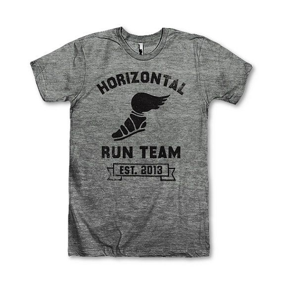 Horizontal Running Team, Established 2013    This awesome design is printed on American Apparels Athletic tri-blend t-shirt. Youll love its