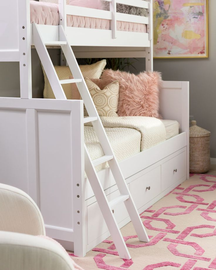 Legacy Tara White Twin Over Full Storage Bunk Bed